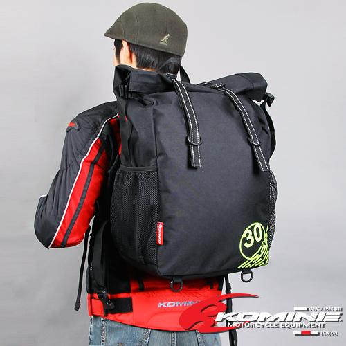 [KOMINE] SA-200 WATERPROOF RIDING BAG 30 방수라이딩 백팩 스탭백으로도 OK!